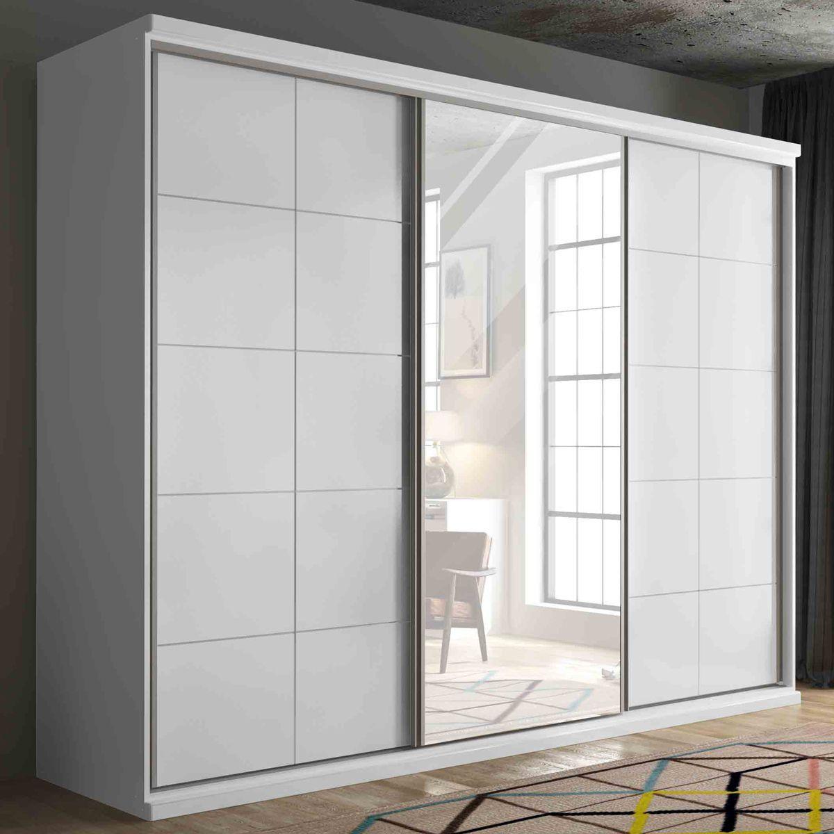 Guarda Roupa de Casal Três Portas e Espelho MMAA3P0053