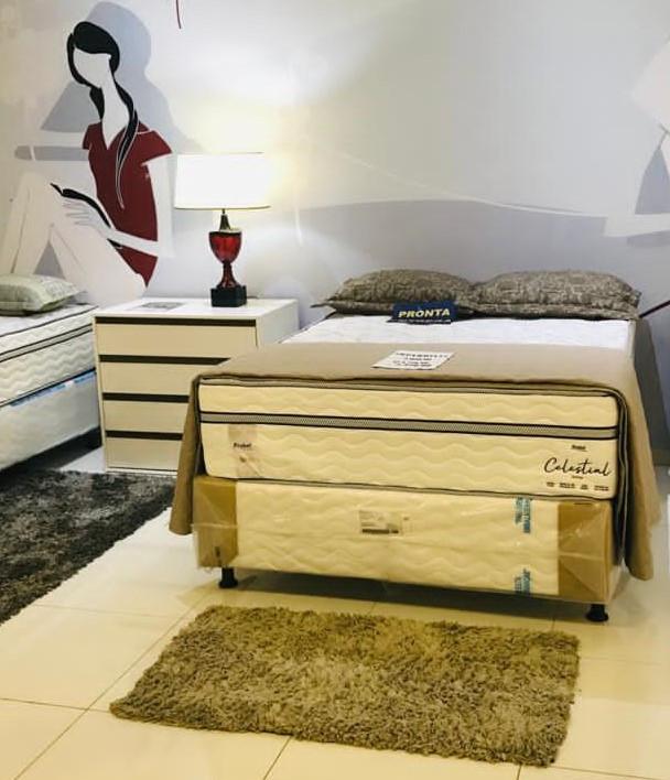 Cama Box de Casal com Colchão e Sommier MNCCOL0002