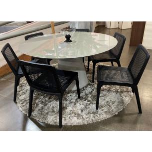 Sala de Jantar com Mesa e Seis Cadeiras Completa 46