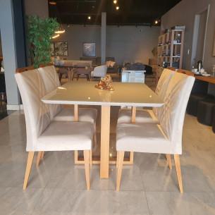 Sala de Jantar com Mesa e Quatro Cadeiras Completa 73