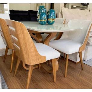 Sala de Jantar com Mesa e Quatro Cadeiras Completa 55