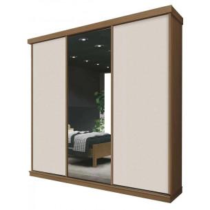 Guarda Roupa de Casal Três Portas e Espelho MMZA3P0006